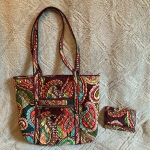 Vera Bradley Iconic Small Tote & Matching Wallet